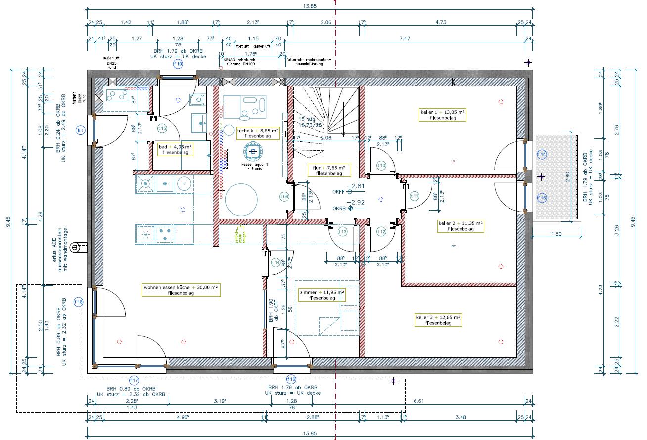 Einliegerwohnung im keller grundriss die neuesten for Grundriss wohnhaus